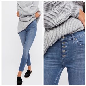 Free People Reagan Button Fly Jeans